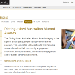 Curtin Alumni Award
